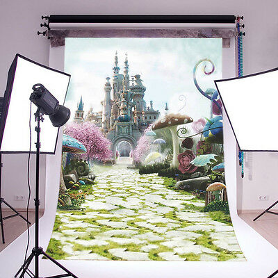 Alice Wonderland backdrop Vinyl Photography studio Props background 3X5FT 6695