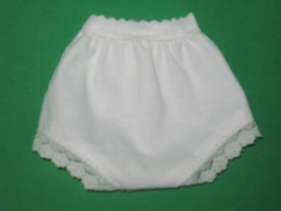 """One pair white undies panties for 14/"""" P-90 Ideal Toni or Betsy McCall"""