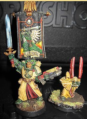 40K Space Marines Dark Angels Azrael Chapter master special character  painted
