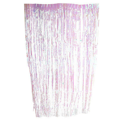 Glitter Metallic Fringe Foil Tinsel Curtain Wedding Party Door Decoration 1-4m