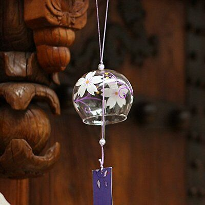 Japanese Wind Bell Furin chime Glass Made in Japan Hanging Cool Refreshing Sound