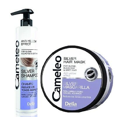 Delia Silver Set Shampoo + Mask Blond Grey Hair Anti Yellow Effect 2x200ml
