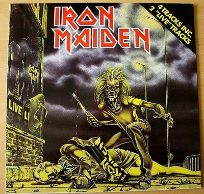 "NM/NM! 1980 Iron Maiden SANCTUARY 12"" Vinyl Disc Dutch Holland Netherlands"