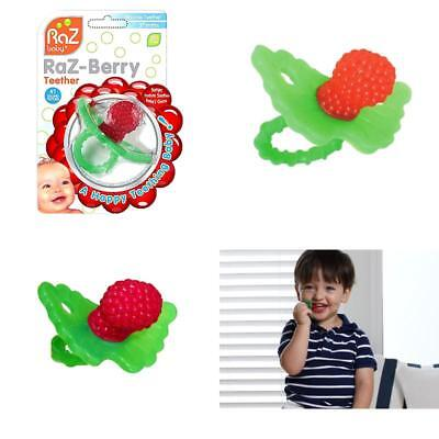 Razbaby RazBerry Baby Non-toxic Silicone Teether Teething Toy Green Dummy Ring