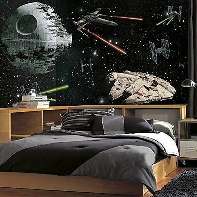 RoomMates JL1399M Star Wars Vehicles X-Large Chair Rail Prepasted Mural, 6' x
