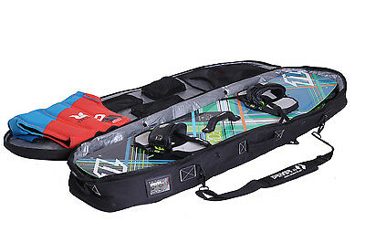 Kiteboard bag for 2 Boards plus Kite and Backpack system Driver13