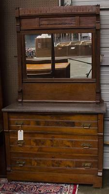 Marble top dresser with mirror Lot 81
