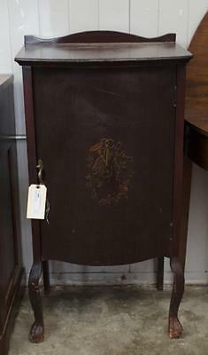Mahogany music cabinet Lot 348