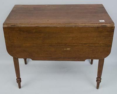 Walnut drop leaf table with end drawer Lot 67