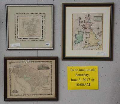 Framed map of Scotland & map of Great Britain Lot 92