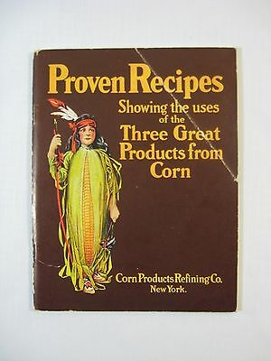 Vtg.1920's Proven Recipes By Corn Products Endorsed By Waldorf Astoria Hotel NYC