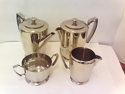 Vintage 70's, Olde Hall, Balmoral, 4 piece stainless steel Tea set