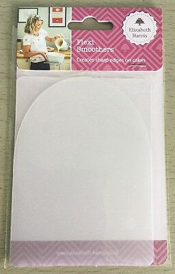 Elizabeth Harris - 2 Flexi Cake Smoothers -Sharp Edges Perect Finish  - New