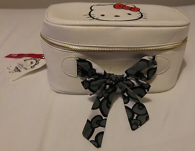 Petit sac vanity HELLO KITTY BY VICTORIA COUTURE Aspect Crocodile Blanc
