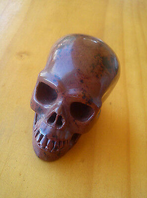 "Crystal Gemstone ""mahogany-Blood Jasper"" -5 Star, Highly Detailed Carved Skull !"