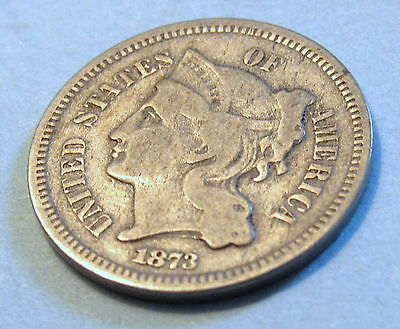Nickel three cent piece 1873