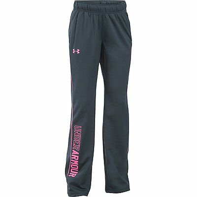 Girl's Under Armour Rival Training Pants Stealth Gray/Pink Punk