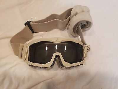Desert Srorm Style Goggles Tan w/ Bag and Extra Lense