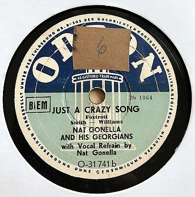 Nat Gonella Orch. - Just an crazy song / You rascal you 1936