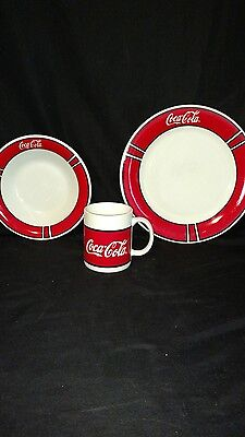 Coca cola gibson plate, bowl and coffee cup.