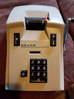 Sears Manual Adding Machine 158.58000 Works RARE/Vintage 1960's Free Shipping!
