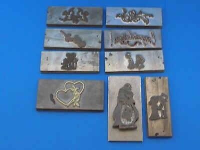 Set Of 9 Kingsley Hot Foil Stamp Machine Special Occasion Stamp Plates