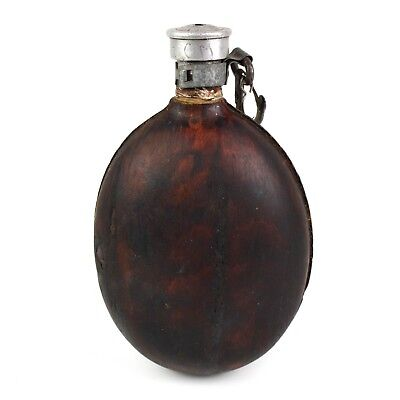 WWII Original Bulgarian army coconut canteen water bottle