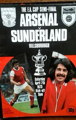 Arsenal V Sunderland 7/4/1973 Fa Cup Semi Final