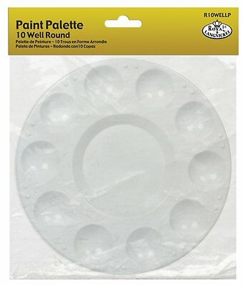 Royal Langnickel 10 Well Round Plastic Palette