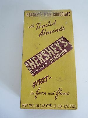 "VINTAGE HERSHEY'S CHOCOLATE 24 .5c BARS BOX 8.5""  CARDBOARD"