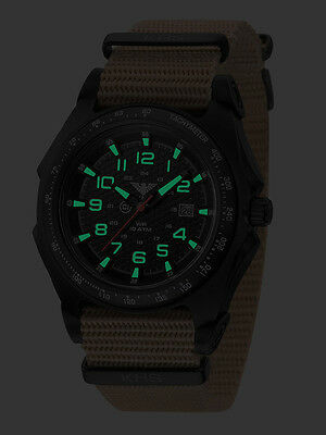 KHS Tactical Watches German Military Analog C1 Lighting Date Box KHS.SEAB.NT