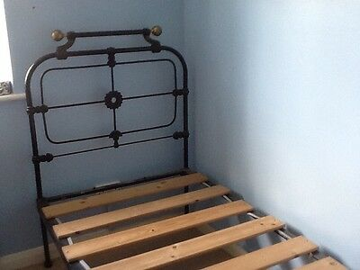 Antique bed wrought iron bed frame