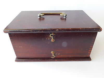 Antique Vintage Quack Medical Device Wood Battery Box Electric Shock - Box Only
