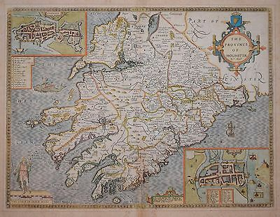 The Province Of Mounster Described By John Speed.1612.