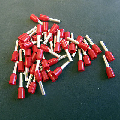 American Electrical Insulated Wire End Ferrules Red 16 AWG 1.5mm 1000 Count