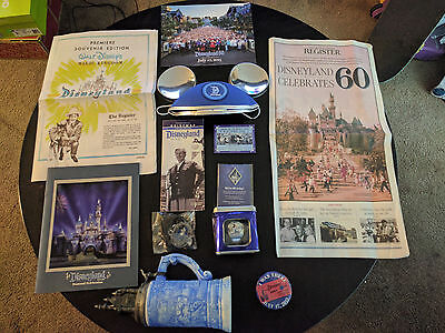 RARE Disneyland 60th Anniversary CAST MEMBER EXCLUSIVE Package Bundle 14 items