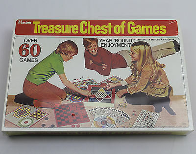 NEW Treasure Chest of Games by Hasbro - Over 60 Games - VINTAGE