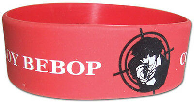 **Legit** Cowboy Bebop Spike Shooting Red Authentic Anime PVC Wristband #54420