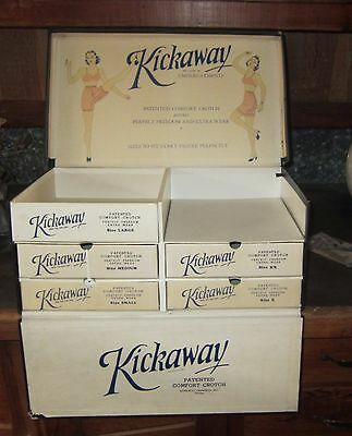 Vintage Kickaway Ladies Undergarments General Store Advertising Display Piece