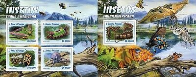 Z08 ST16311ab Sao Tome and Principe 2016 Insects MNH Set