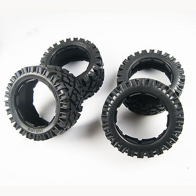 Front and Rear All terrain Tyre kit for HPI Rovan KM baja 5B SS 170mm x 60 80mm