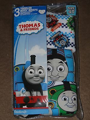 Thomas The Train 3 Toddler Boys' Briefs-Size 4T-Free Shipping-New In Package