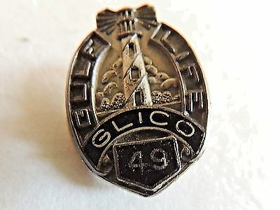 """Vintage Classic """"Gulf Life Insurance Company"""" 49 Years Of Service Silver Pin"""