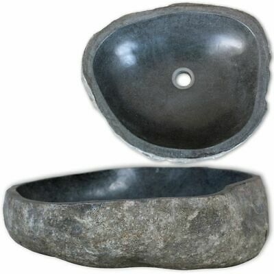 Natural River Stone Basin Sink Washing Bowl Oval Shape Toilet Bathroom Washroom
