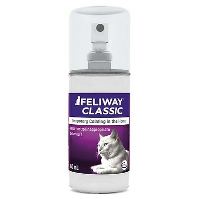 Feliway Classic Pheromone Spray 60ml Cat Stress Relief Reducing Appeasing 066098