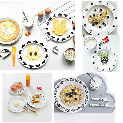 Children Numbers Safety Baby Feeding Dishes Dinner Plate Fruit Dish Tableware