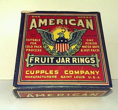 American Fruit Jar Rings VINTAGE  Canning Seals Collectible in Original Box