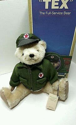 "TEXACO BEAR ""TEX"" The Full Service Bear, 1st Edition, 1997 Posable BEAR 16"" MIB"