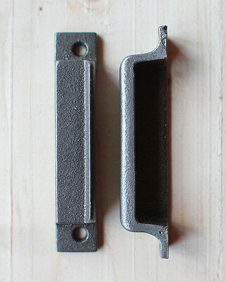 CAST IRON RIM LOCK DOOR KEEP 116mm ~ BRITISH MADE VICTORIAN RIMLOCK KEEPS ~ KP09