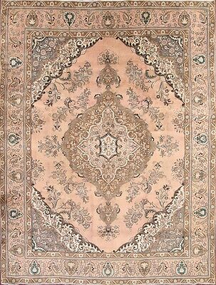 Antique Washed Muted 10x13 Tabriz Persian Area Rug Oriental Carpet 12' 7 x 9' 6